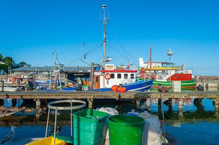 Fishing port in Sassnitz on the island of R?gen at the Baltic Sea Editorial