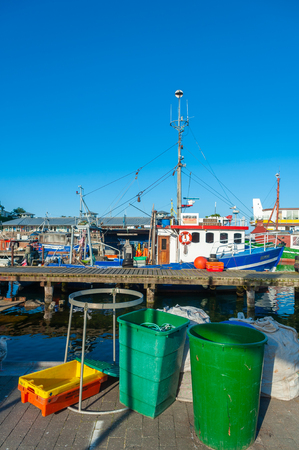 Fishing port in Sassnitz on the island of R?gen at the Baltic Sea Publikacyjne