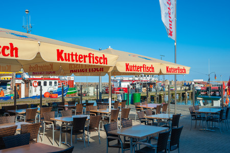 Restaurant in the fishing harbor in Sassnitz on the island of R?gen at the Baltic Sea