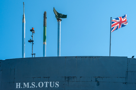 Tower of submarine HMS Otus at Sassnitz on the island of R?gen at the Baltic Sea Editorial