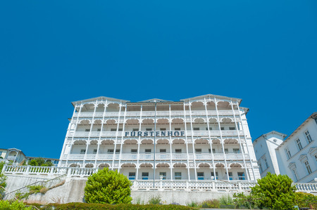 Hotel Fürstenhof in Sassnitz on the island of Rügen at the Baltic Sea Redakční