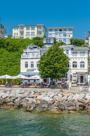 Promenade with historic villas in Sassnitz on the island of R?gen at the Baltic Sea Editorial