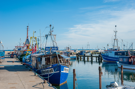 Fishing port in Sassnitz on the island of R?gen at the Baltic Sea Redakční