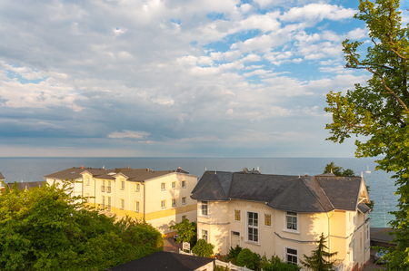 Landscape with historic villas in Sassnitz on the island of Rugen Editorial