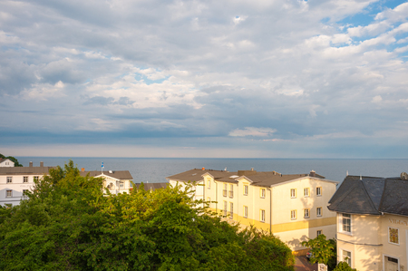 Landscape with historic villas in Sassnitz on the island of Rugen Redakční