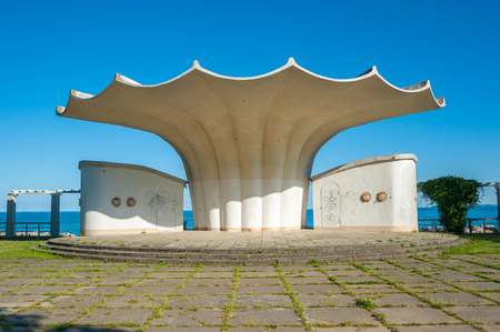 Bandstand in Sassnitz on the island of Ruegen Archivio Fotografico - 116830064