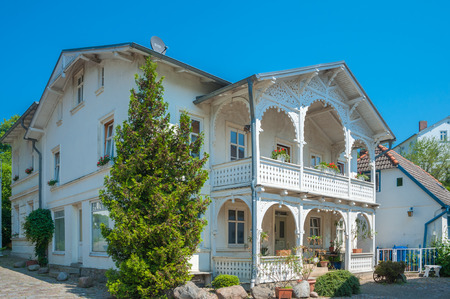 Historic villa in the old town of Sassnitz on the island of Ruegen at the Baltic Sea Redakční