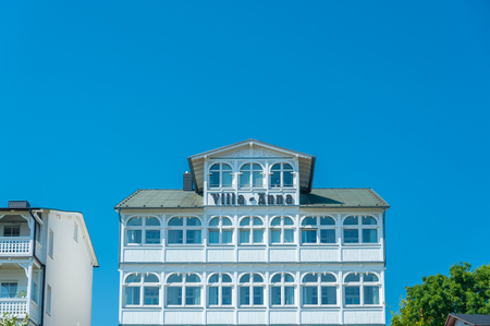 Historic villa in the old town of Sassnitz on the island of Ruegen at the Baltic Sea Editorial