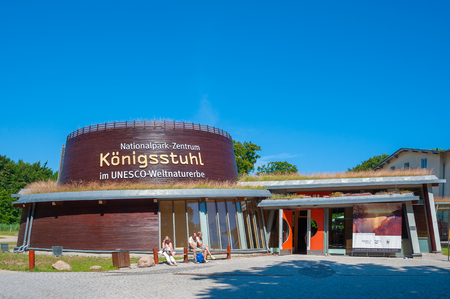 Royal Chair National Park Center in the Jasmund National Park in Sassnitz on the island of Rugen Editorial