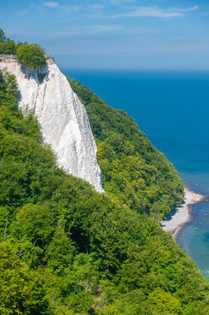 Landscape with the chalk cliffs Kings chair in the Jasmund National Park near Sassnitz on the island of R?gen