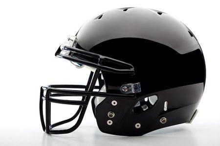 pigskin: Football Helmet on white Stock Photo