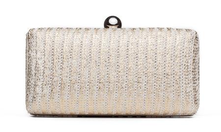 'hide out': Beautiful handbag on white