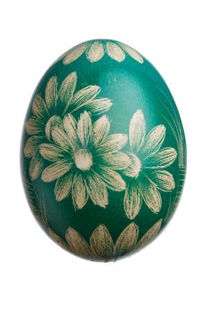 hand crafted: Hand Crafted Easter Egg on White Stock Photo