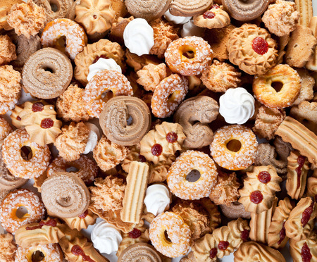 galletas de navidad: Un montón de galletas de la Navidad