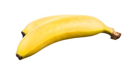 platano maduro: Ripe banana isolated on white