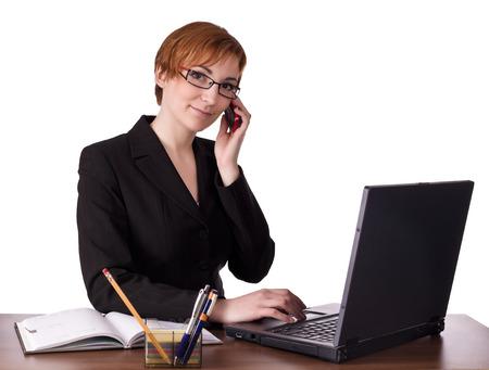 one teenage girl only: Elegance woman is working