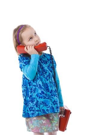 gir: Little girl is calling
