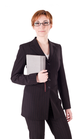 one teenage girl only: Elegance woman in suit