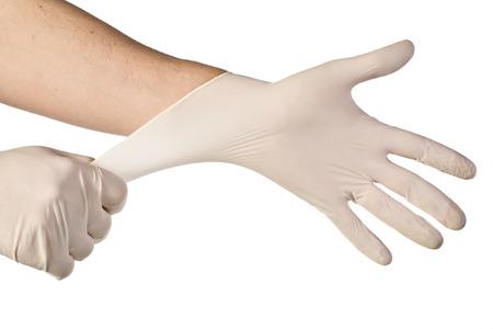 medical gloves: latex free medical gloves on white