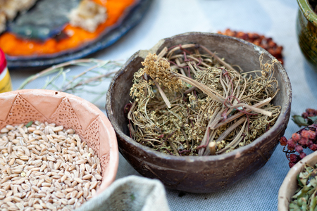nutritional therapy: Bowl of Chinese herbal medicine