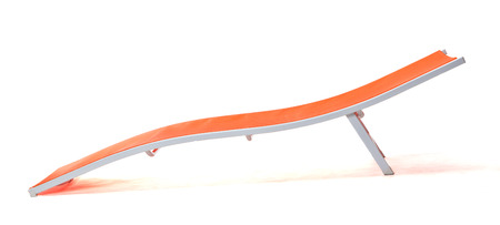 lounge chair: Orange Lounge Chair on white Stock Photo