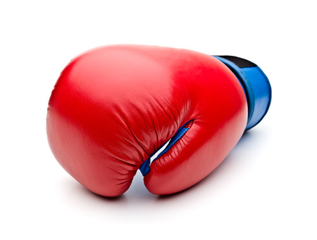 padding: Red boxing gloves on white