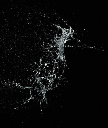 Closeup of water in motion on black background