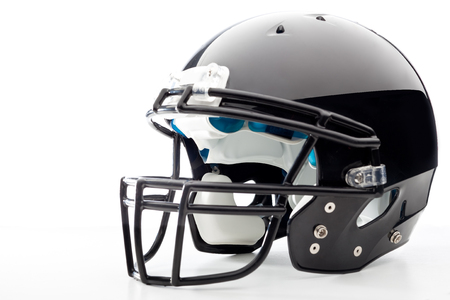 padding: Football Helmet on white Stock Photo