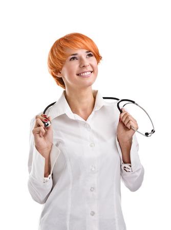 practitioner: Happy Caucasian Health Care Practitioner