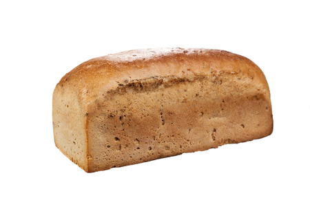 food staple: Bread isolated on white