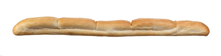 crusty french bread: Baguette French crusty bread, isolated on a white background