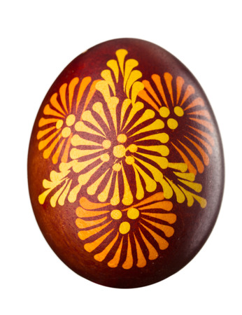 eastertime: Hand painted easter egg isolated on white