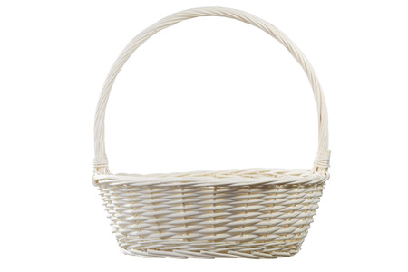 White empty basket on white Imagens
