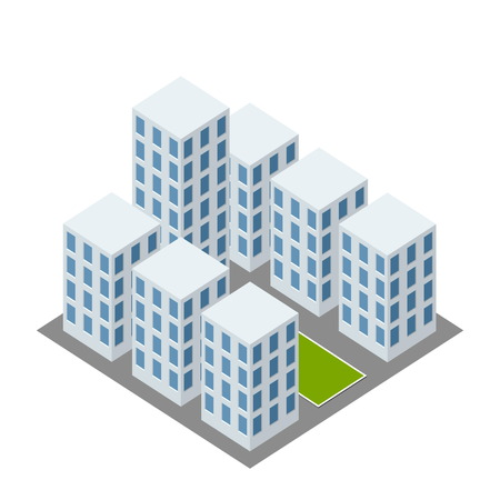 industrial complex: isometric complex icon