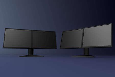 Rendered dual LCD displays photo