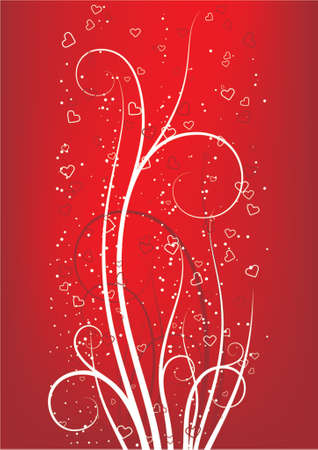 abstract Valentines Day background with heart shape Illustration