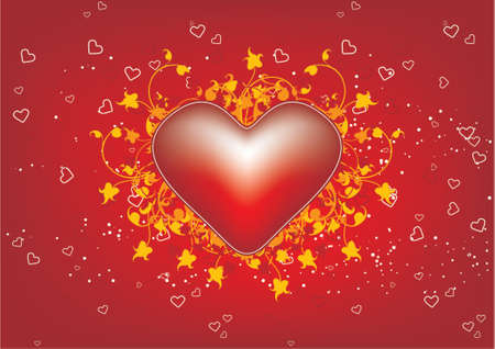 abstract Valentines Day background with heart shape Vector