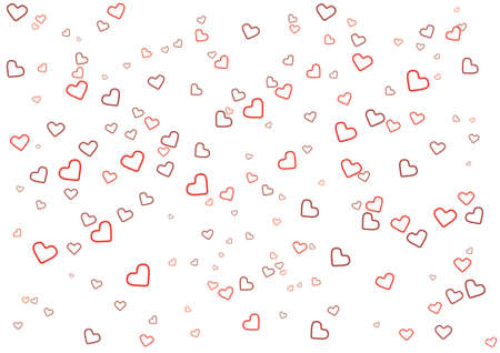 14: abstract Valentines Day background with heart shape Illustration