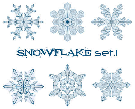 some designs of winter snowflakes  Stock Photo