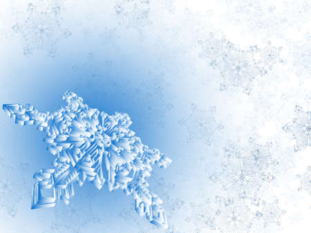 winter snowflake background, raster background
