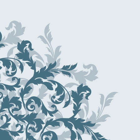 Ornamental design, digital artwork, floral background, decoration
