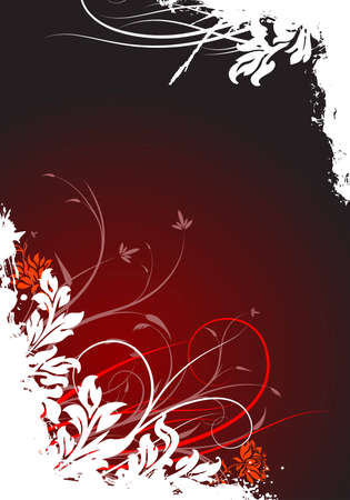 abstract grunge floral decorative background vector illustration illustration