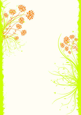 Abstract Spring Grunge Decorative Floral Background Vector Illustration illustration