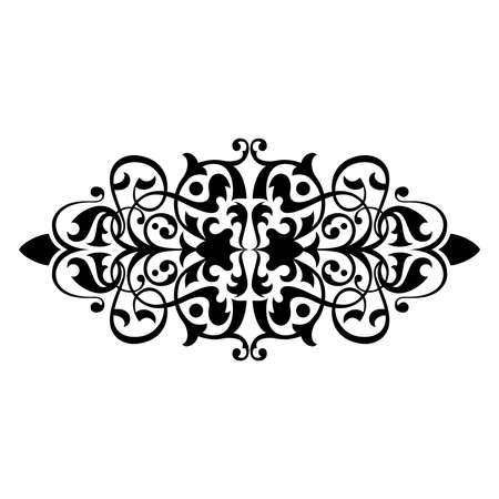 Ancient decorative ornament vector illustration isolated on white Stock Illustration - 1222253