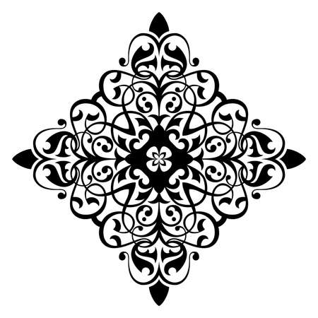 ethno: Ancient decorative ornament vector illustration isolated on white