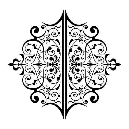 Ancient decorative ornament vector illustration isolated on white Stock Illustration - 1290700