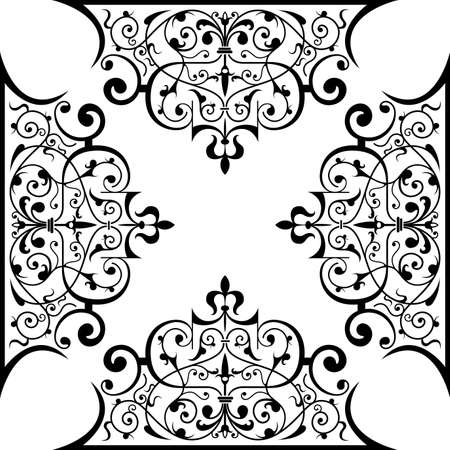 celtic frame: Ancient decorative ornament vector illustration isolated on white