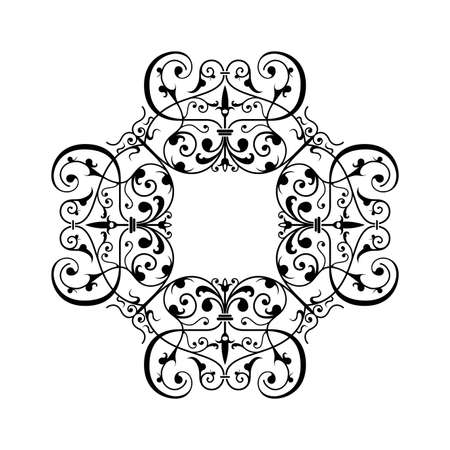 Ancient decorative ornament vector illustration isolated on white illustration
