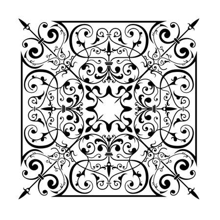 Ancient decorative ornament vector illustration isolated on white Stock Illustration - 1290705