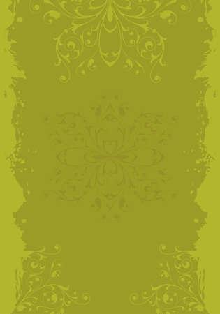 Grunge background with floral ornament vector illustration Stock Illustration - 1341985